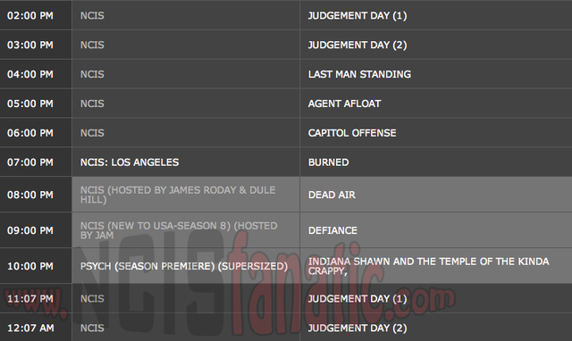 Wednesday, February 29, 2012 (2:00pm until 1:00am ET — 10 NCIS Episodes back-to-back!)