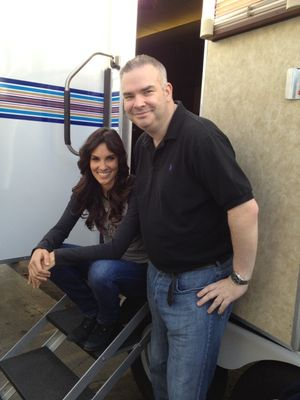 Darragh O'Dea on NCIS:LA Set with Daniela Ruah