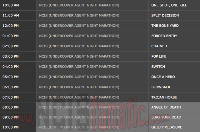 Sunday, February 24, 2013 (10:00am until 11:00pm ET/PT — 13 NCIS Episodes back-to-back!)