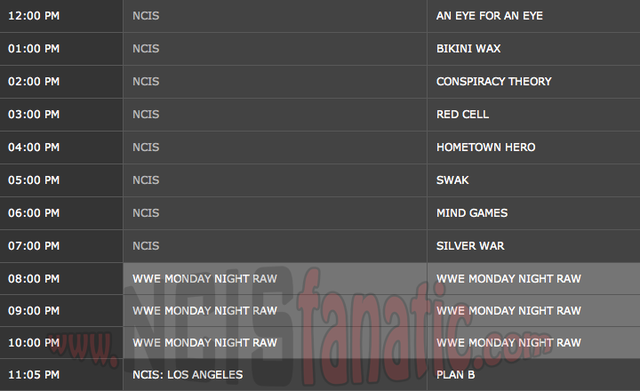 Monday, February 25, 2013 (12:00pm until 8:00pm ET/PT — 8 NCIS Episodes back-to-back!)