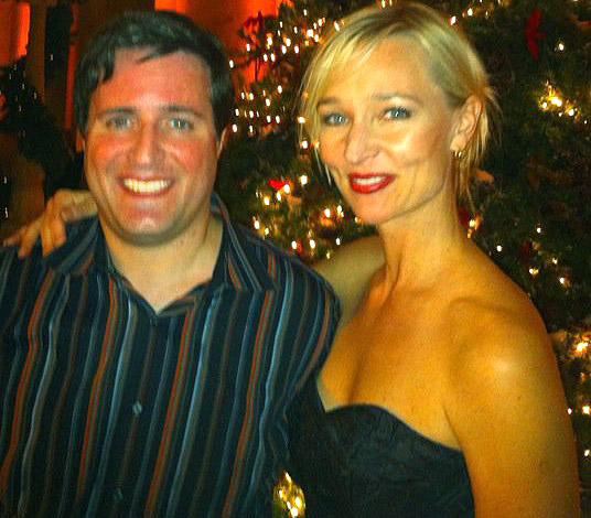 Ted with Kari Matchett from Covert Affairs