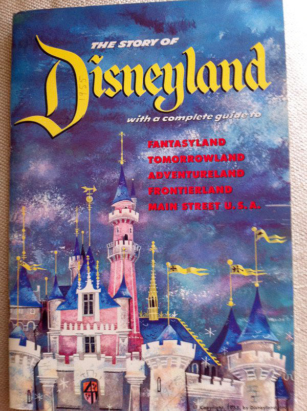 1955 Cover Disneyland 1st Guide Book-Map