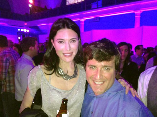 Jaime Murray of Hustle and Dexter fame and Ted at Syfy upfront